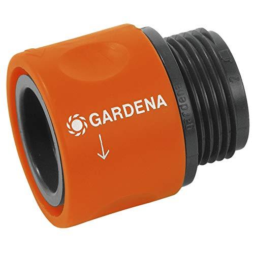 Gardena Übergangs-Schlauchstück: Anschlussteil als Übergang von einer Schlauchverschraubung zum Gardena Hahnverbinder, für 26.5 mm (G3/4) Gewinde, z. B. Waschmaschinen, verpackt (2917-20)