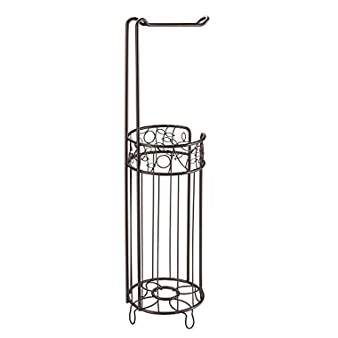 InterDesign Twigz Free Standing Toilet Paper Holder – Dispenser and Spare Roll Storage for Bathroom, Bronze