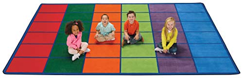 Carpets for Kids 4034 Colorful Seating Rows Kids Rug Size: 8'4' x 13'4'