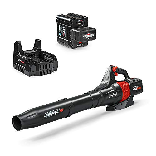 Snapper HD 48V MAX Cordless Electric 450 CFM Leaf Blower Kit with (1) 2.0 Battery and (1) Rapid Charger