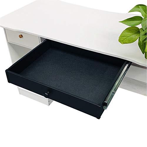 HBJSkcn Cajón debajo del escritorio, caja de almacenamiento de escritorio oculta, con rodamiento de bolas totalmente extendido, apto para escritorio, mesa de estudio, mesa de comedor, cocina