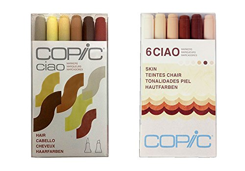 Copic Ciao Marker Set 6 Hair & Skin (Kit)