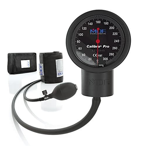 MDF® Calibra® Pro - Monitor Esfigmomanómetro aneroide profesional de presión arterial - Negro (MDF808B-11)