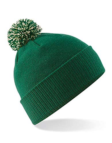 Beechfield Bonnet Snowstar Unisexe Taille Unique Vert
