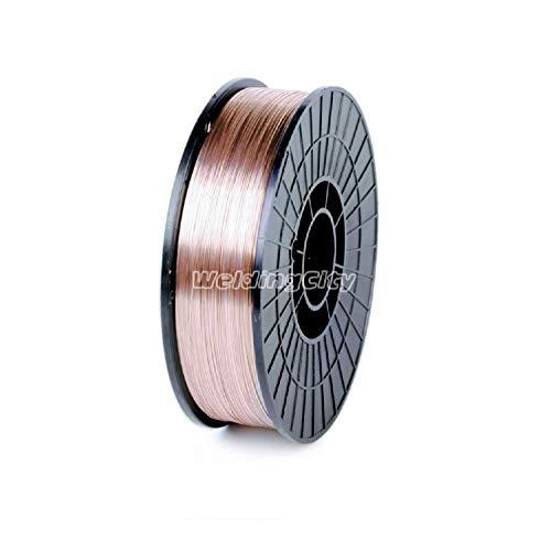 WeldingCity Mild Steel MIG Welding Wire ER70S-6 11-Lb Roll 0.035' (0.9mm) 8'-spool