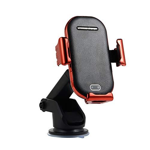 Skryo🛩🛩 QI Wireless Charging Autoladegerät Automatische Induktion Auto Air Vent Telefonhalter (rot)