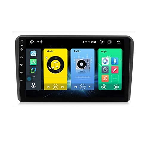 Yuahwyehe Android 10 Autoradio Pantalla Tactil para Coche 9 Pulgadas para Audi A3 8P S3 2003-2012 con Soporte Control del Volante con Enlace De Espejo Navegación GPS Bluetooth,C300