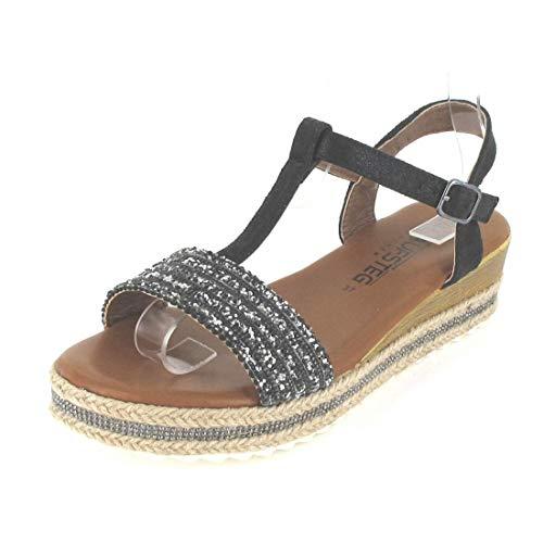 Laufsteg München Sandalette Größe 41, Farbe: Black Glitter