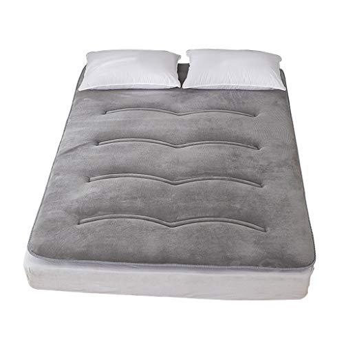 QVIVI Futon Mattress, Tatami Sleeping Mat, Foldable Portable Futon Floor Mattress Soft Thick Student Dormitory Mattress Pad For Home Bedroom 0.9 * 2M