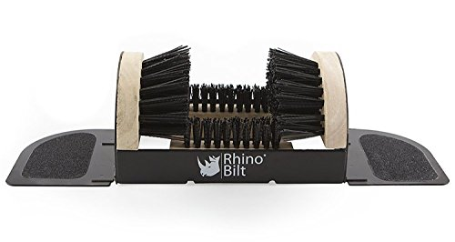 Rhino Bilt Folding Boot Scraper The Allinone Scrubber Brush Scraper and Cleaner  No Mounting Required Indoor amp Outdoor Use Extremely Easy to use for Children amp Adults