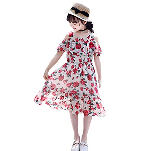 Julhold kinderen tiener kinderen meisje uit schouder riem geruite casual print jurk riem jurken zomer - 3-14 jaar - 5 stijl