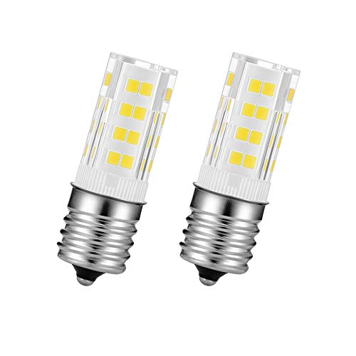 Microwave Lights Under Hood T7 E17 Light 110 Volts 4watts Daylight White for Microwave Oven Appliance Light D28a Ffreezer Bulb Pack of 2