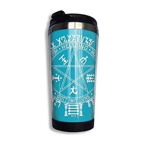 AOOEDM Hellsing Alucard Handschuh Kaffee Reisebecher Tasse Edelstahl Vakuumisolierter Becher 13,5 Unzen
