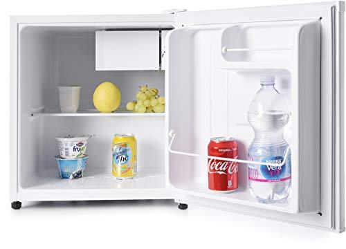 Melchioni ARTIC47LT Mini frigorífico con congelador, Minibar Pequeño, 47 litros, Temperatura ajustable, Mini nevera electrica, Portatil, Silenciosa