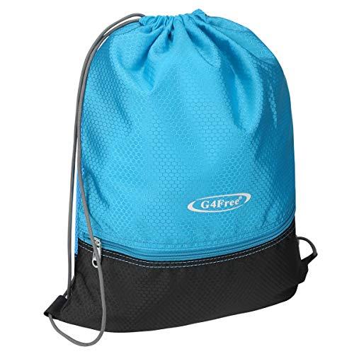 G4Free Drawstring Bag Backpack PE Bag Gym Bag Gym Sack Swim Sports Bag for Adults and Teenagers School Outdoor