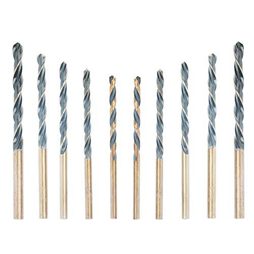 CESFONJER HSS high Speed Steel Twist Drill, Cobalt High Speed Steel Drill Bits, Metal Drill, 3mm 2P, 3.5mm 2P, 4mm 2P, 4.5mm 2P, 5mm 2P (10 pcs)