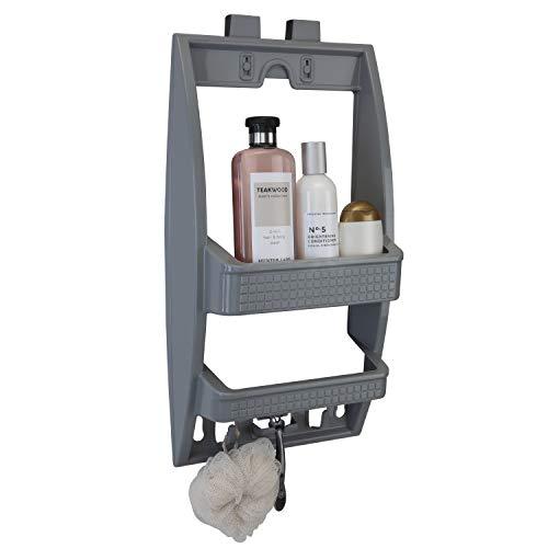 Find Discount Bath Bliss Grey Multi Hanging Option Shower Caddy
