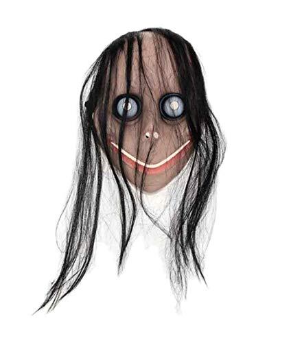 Multimarca 146050 Mscara Momo Juego Muerte Plstico Halloween Disfraz, Talla nica