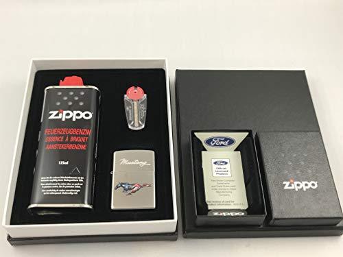 MeyTrade Zippo Ford Mustang Chrome poliert Geschenk Set Feuerzeug - 60004523