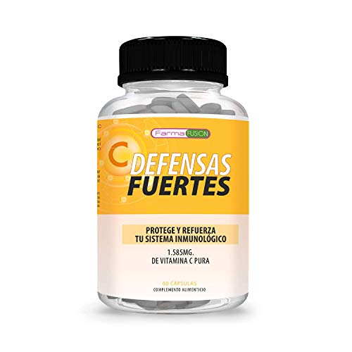 Vitamina C Pura 1.585mg | Protege y refuerza el Sistema Inmunológico | Defensas fuertes | Aporta Energía y Vitalidad | Acción Antioxidante | 60 cápsulas
