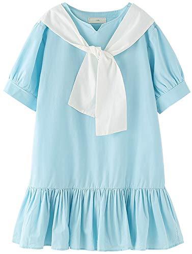 ZRFNFMA Niños Verano Suelto Faldas Grandes Niños Princesa Vestidos Niñas Vestidos Niñas Azul Claro Vestidos Azul Claro Azul Claro 110cm