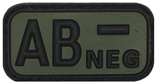 Klettabzeichen noir/olive, groupe sanguin aB «nEG, 3D