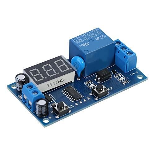 Yisenda Módulo de Temporizador de Ciclo, módulo de Interruptor de Temporizador Ajustable, retardo de Encendido/Apagado de alimentación repetitiva DC 12 V para Equipo para pecera