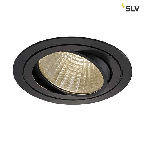 SLV LED Deckeneinbaustrahler NEW TRIA 150 I rund, single, 3000K, CS, Clipfeder,schwarz, Einbauleuchte, Deckenstrahler, dreh- und schwenkbare Deckeneinbauleuchte, Indoor
