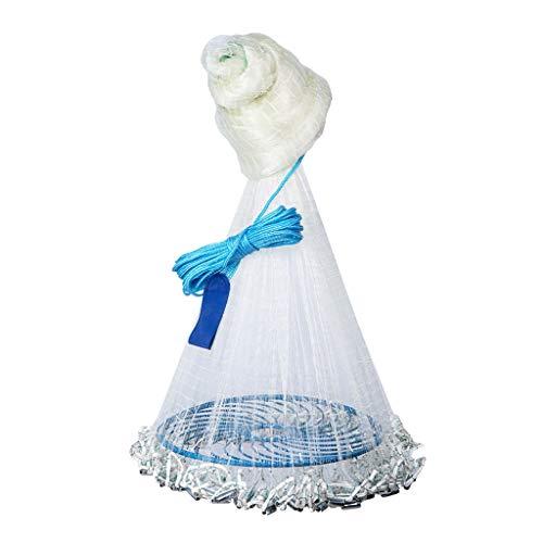 ZHongWei-- Fischernetze, Plumb-Flying Disc-Typ Cast Net Discs, Easy-to-Wurf Spinning Nets, Süßwasser Netze unterschiedliche Spezifikationen (Color : 2 Fingers, Size : 9M)