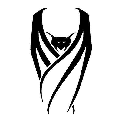 FAFPAY Sticker de Carro 7,7 * 13,3 CM Dibujos Animados disfrazados murcilago Vampiro Pegatinas de Vinilo Decorativas para Coche calcomana de Estilo de Coche Negro/Plateado S1-2161