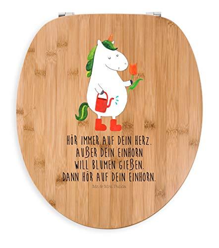 Mr. & Mrs. Panda Toilettendeckel, Toilettensitz, Motiv WC Sitz Einhorn Gärtner mit Spruch - Farbe Transparent