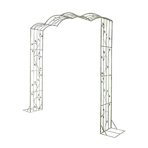 Flashing lights Retro Wrought Iron Metal Garden Arch,Pergola Arbor For Various Climbing Plant Roses Vines,Outdoor Wedding Bridal Party Decoration,Assemble Freely,76' Wide X 87' High