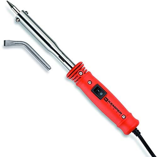 Fer à souder 100W - 230 v Professionnel kemper livré avec 2 pannes cuivre diam 7.8 mm coudée et droite.