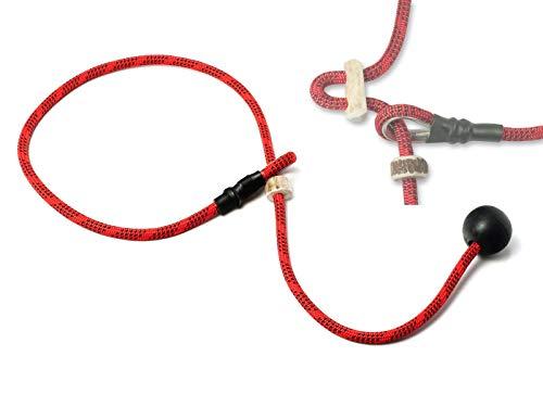 Mystique® Field Trial Kurzführer 6mm mit Zugbegrenzung rot/schwarz 65cm