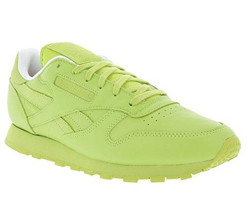Reebok Classic CL Leather Spirit Schuhe Damen Sneaker Turnschuhe Grün V69387, Größenauswahl:36
