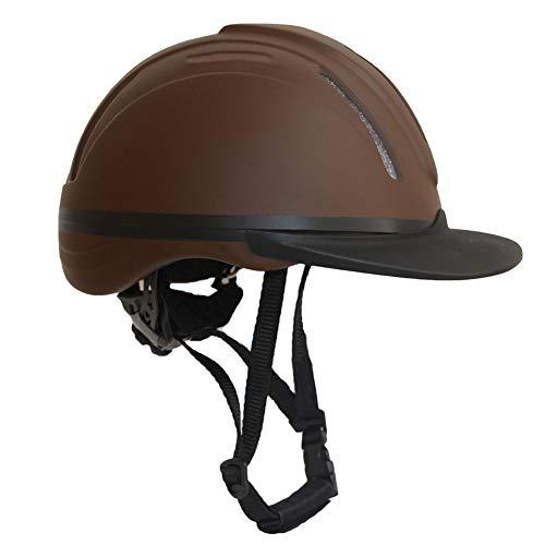 ONLYXKZ Reiterschutzhelm/Schule, Kopfschutz Für Reiter - SEI-Zertifiziert, Robust Und Langlebig - Brauner Reiterhelm,L~XL(58~62) cm