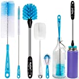 Holikme 5 Pack Bottle Brush Cleaning Set,Long Handle Bottle Cleaner for Washing Narrow Neck Beer Bottles, Wine Decanter, Narrow Cup,Pipes, Hydro Flask Tumbler, Sinks, Cup Cover,White