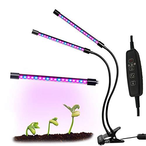 LED Grow Light, wasserdichte Vollspektrum-Zuchtlampe Für Pflanzenwachstum Mit 3/9 / 12H-Timer-Einstellung Und 10 Dimmbaren Stufen,27W