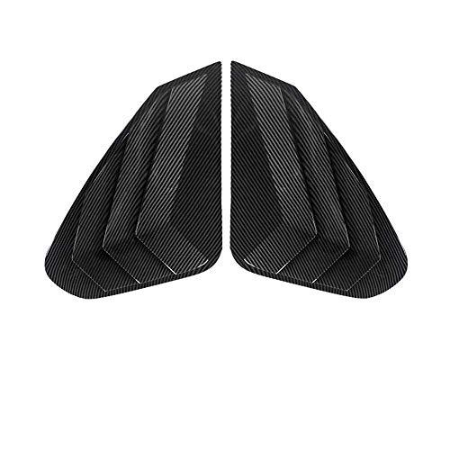 LYSHUI Cubierta de persiana ciega de Ventana Triangular Trasera de Coche, Pegatina Decorativa embellecedora ABS, para Toyota RAV4 Wildlander 2020 Accesorio Exterior