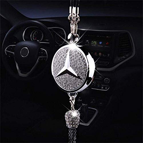 Tianxi Car Rearview Mirror Perfume Pendant Car Smell Air Fresh Freshener Fragrance Oil Diffuser Rearview Mirror Perfume Pendant Bling Car Accessories Compatible with Benz