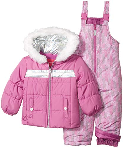 LONDON FOG Girls' Little Snowsuit with Snowbib and Puffer...