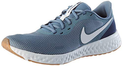 Nike Męskie buty do biegania Revolution 5, Ozone Blue/Photon Dust-Obsydian-Gum Medium Brown, 44 EU