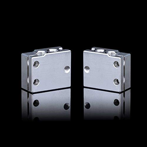 IU3D Volcano Heater Block Precision Aluminum with Silicone Sock for Volcano Hotend Compatible PT100 Sensor. (5PCS)