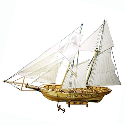 LoveinDIY 19th Century Harvey Sailboat Ship 15' Wood Detailed Model Kit 380x130x270mm