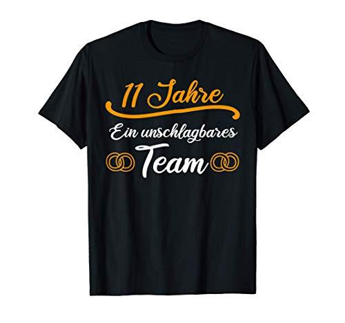 Stahlhochzeit 11.Hochzeitstag Seit 2010 Geschenk T-Shirt