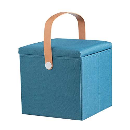Wddwarmhome Ménage Tabouret Oxford de Rangement pour boîte de Rangement en Textile Oxford La Charge maximale est 100kg - Facile à Nettoyer