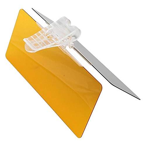 QSCTYG Visera Parasol Coche Coche Visera HD Anti Deslumbrante luz del Sol Gafas de día/Noche Lente Que Conduce el Espejo UV Fold, Tapa de la sombrilla del Extensor Car Styling 67