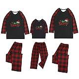 Alueeu Pijamas Navidad para Familias Invierno Otoño Top+Pantalones Ropa de Dormir para Mamá Papá Niños Bebé Conjuntos Navideños Casual Homewear Pijama de Año Nnuevo