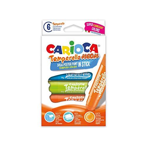 CARIOCA TEMPERELLO NEON | 42675 Temperafarben auf Stange in 6 Farben, sortiert