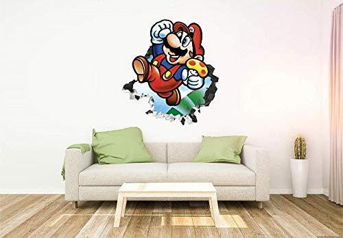 HQQPA Etiqueta de la pared 3D Smashed Wall Decal Gráfico papel del juego tatuajes de pared pegatinas mural decoración del hogar para el arte del dormitorio